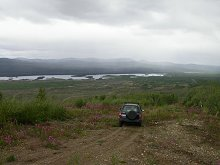 Four-wheeling above Braeburn Lake - North Klondike Highway, Yukon
