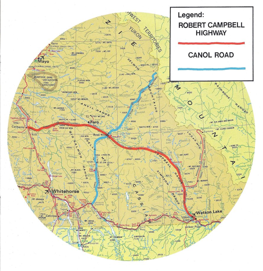 Map of the Robert Campbell Highway, Yukon in 1972 Yukon Highway Map on taylor highway, top of the world highway, alaska state route 7, dalton highway, alberta highway map, columbia highway map, bc highway map, glenn highway, alaska state route 2, washington highway map, alaska highway, atlanta highway map, hawaii highway map, top of the world highway map, meridian highway map, australia highway map, perry highway map, richardson highway, dempster highway, ottawa highway map, yellowknife highway map, houston highway map, canol road, denali highway map, haines highway, south central alaska highway map, sterling highway, elliott highway, denver highway map, george parks highway, tok cut-off, the alaska highway map, logan county highway map, seminole highway map, miami highway map,