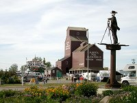 The Start of the Alaska Highway area at NAR Park in Dawson Creek, British Columbia - June 4, 2004