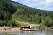 Ferry George Black at Dawson City, Yukon