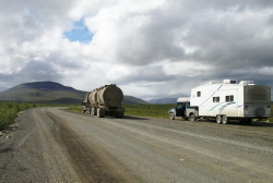 Flat tire on the Dempster Highway align=