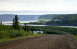The village of Tsiigehtchic (formerly Arctic Red River), NWT