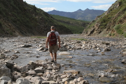 Hiking Lil Creek canyon, Dempster Highway