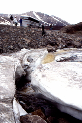 Spring (June) ice on Lil Creek, Dempster Highway