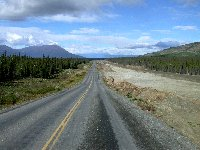 Highway construction east of Haines Junction, Yukon, in August 2002