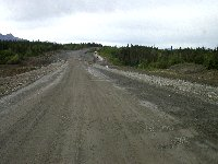 Highway construction west of Haines Junction, Yukon, in August 2002.