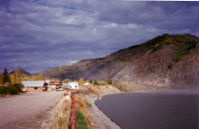 The Yukon River at Eagle, Alaska