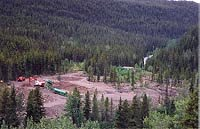 Placer gold mine along the Stewart-Cassiar Highway, BC