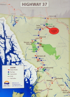 Map of the Stewart-Cassiar Highway