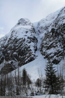 Year-roud avalanche area on BC's Glacier Highway