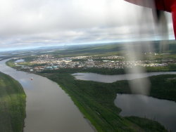 Aerial view of Inuvik, NWT