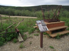 Jack Wade Dredge display at Chicken, Alaska