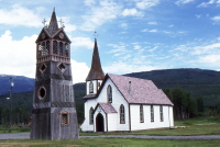 A photo of a church in Kitwanaga, BC