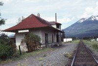 A photo of the old railway station at Kitwanaga, BC