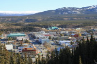 Whitehorse from the top of the clay cliffs where the airport is located