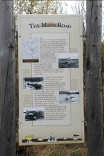 Interpretive sign along the North Klondike Highway, Yukon