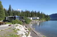 Meziadin Lake Provincial Park campground, BC