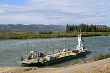 Ferry at Minto Landing - North Klondike Highway, Yukon