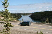 The Yukon River along the North Klondike Highway, Yukon