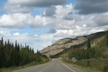 The view north at Km 320 of the North Klondike Highway, Yukon