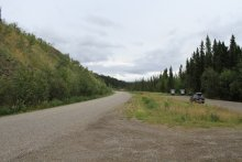 Rest stop along the North Klondike Highway, Yukon
