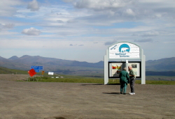The Northwest Territories border on the Dempster Highway