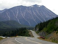 The South Klondike Highway along Tutshi Lake