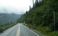 Cyclists in the White Pass