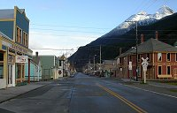 The view up Broadway - Skagway, Alaska