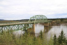The Stewart River Bridge on the North Klondike Highway, Yukon