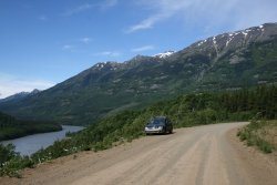 The Stikine River and the road to Glenora, BC