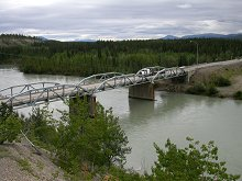 Takhini River Bridge on the North Klondike Highway, Yukon