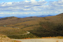 The summit of the Top of the World Highway, Yukon