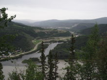 The Klondike River from the Top of the World Highway, Yukon