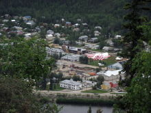 Dawson City from the Top of the World Highway, Yukon