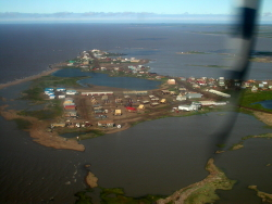Aerial view of Tuktoyaktuk, NWT