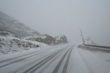 The first heavy snow of 2006 in the White Pass at Skagway, Alaska