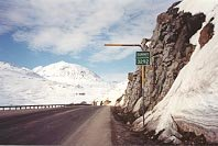 The South Klondike Highway crosses White Pass Summit - 3,292 feet. There is still lots of snow in May.