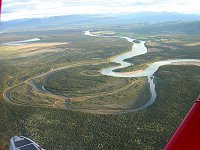 The twisting Yukon River just above Lake Laberge