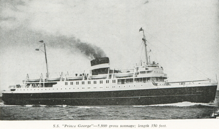 Canadian National Steamship 'Prince George', 1961