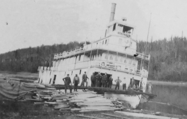 Nasutlin hauled out on the Stewart River, 1919.