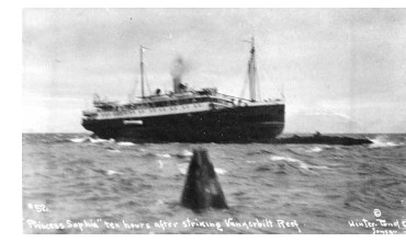 Princess Sophia grounded on Vanderbilt Reef