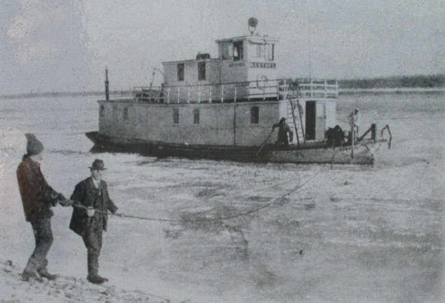 Yukon River work boat Kestrel, 1920