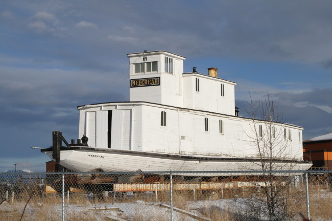 Yukon River work boat Neecheah at the Yukon Transportation Museum, 2018