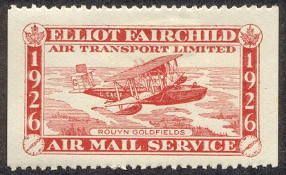 Canadian semi-postal air stamp - Elliot Fairchild Air Transport Limited