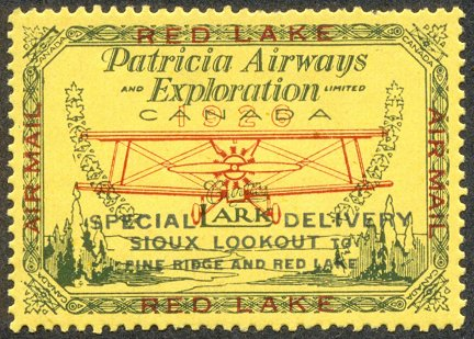 Canadian semi-postal air stamp - Patricia Airways and Exploration Limited