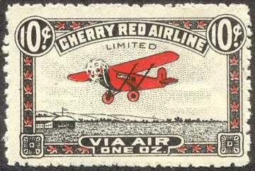 Canadian semi-postal air stamp - Cherry Red Airline Limited