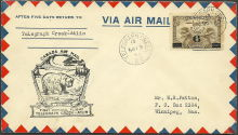 First official air mail flight, Telegraph Creek to Atlin
