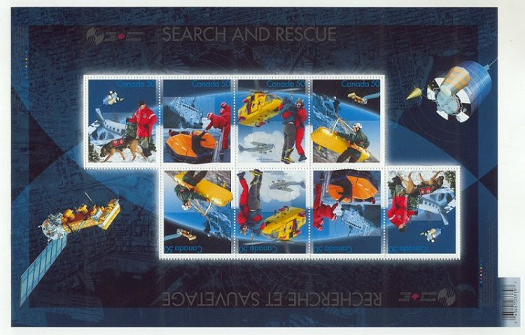 2005 Canadian Search and Rescue Postage Stamps - souvenir sheet