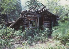Unknown cabin ruins along the Yukon River